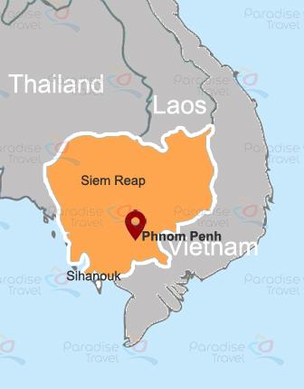 Carte de Phnom Penh