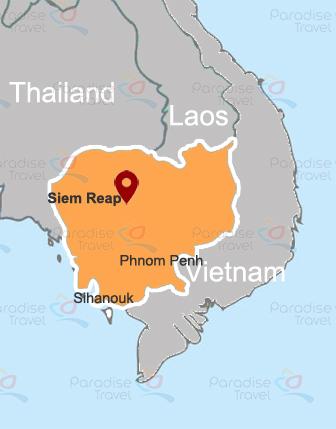 Carte de Siem Reap