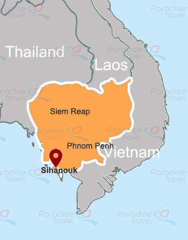 Carte de Sihanoukville