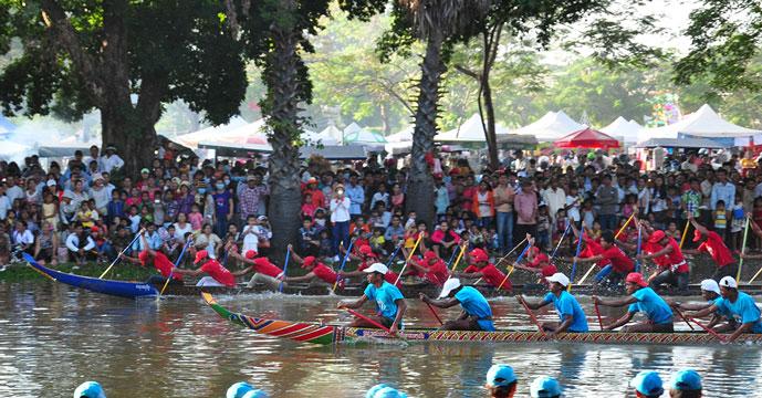 Festival de l'eau, Siem Reap, Cambodge