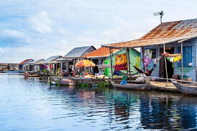 Village flottant, Lac de Tonlé Sap, Siem Reap, Cambdge
