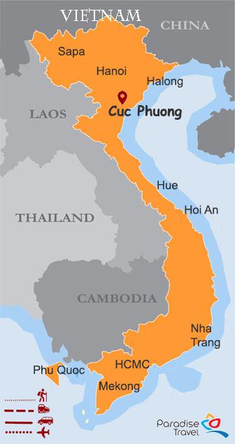 Carte de Cuc Phuong