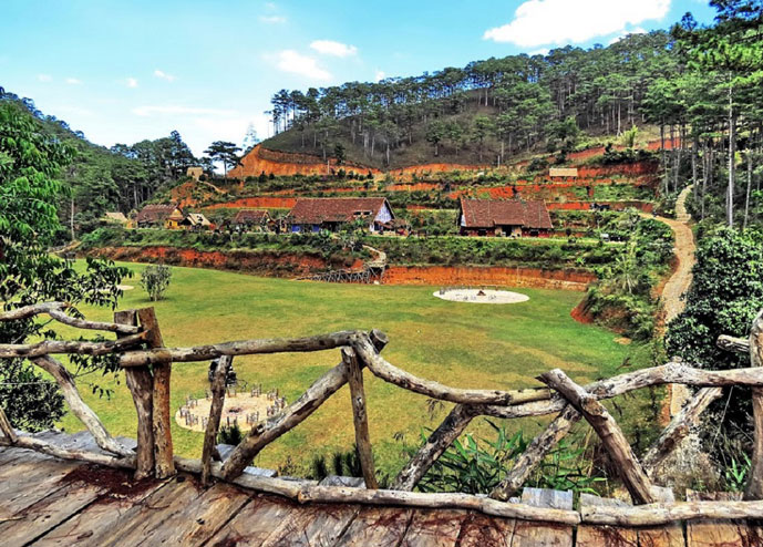 Village de Cu Lan, Da Lat, Vietnam