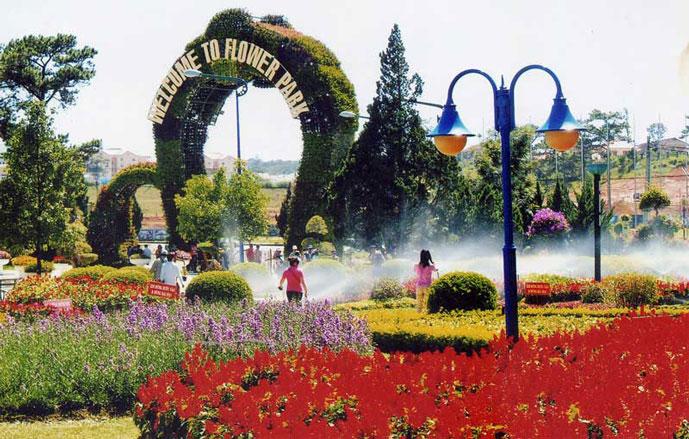 Jardin de fleur de Dalat, Vietnam