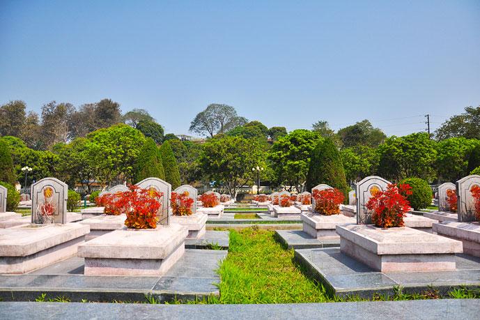 Cimetière Dien Bien Phu, Vietnam