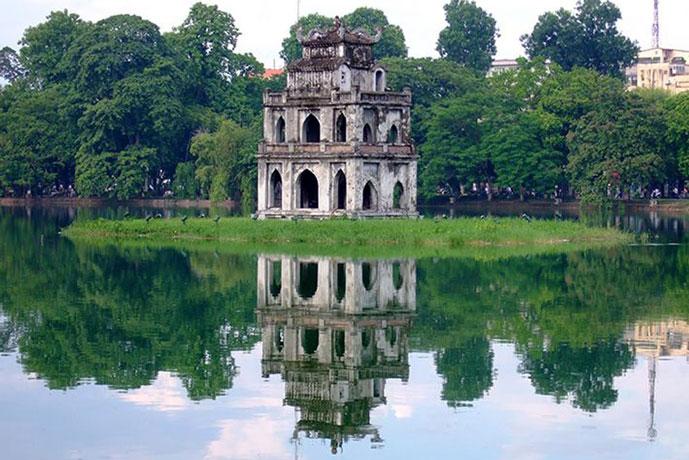 Lac de Hoan Kiem, Hanoi, Vietnam