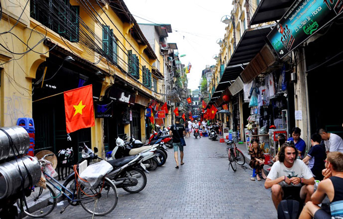 Vieux quartier de Hanoi, Vietnam