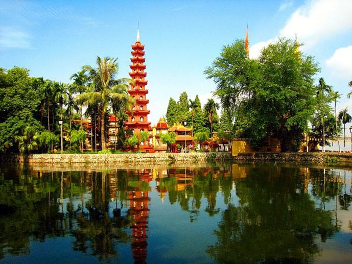 Pagode de Tran Quoc, Hanoi, Vietnam