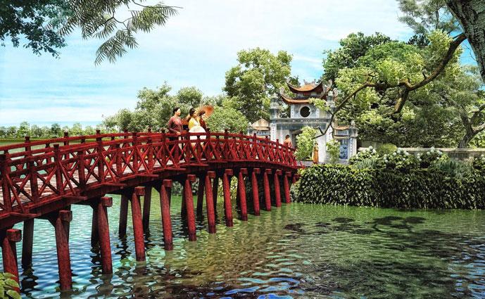 Temple de Ngoc Son, Hanoi, Vietnam