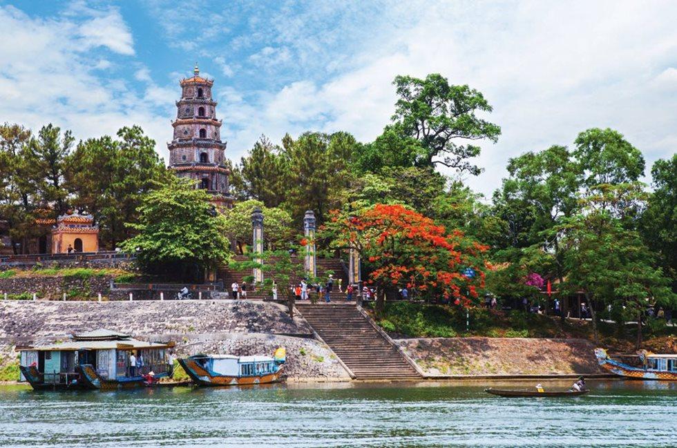 Pagode de Thien Mu, Rivière des Parfums, Hue, Vietnam