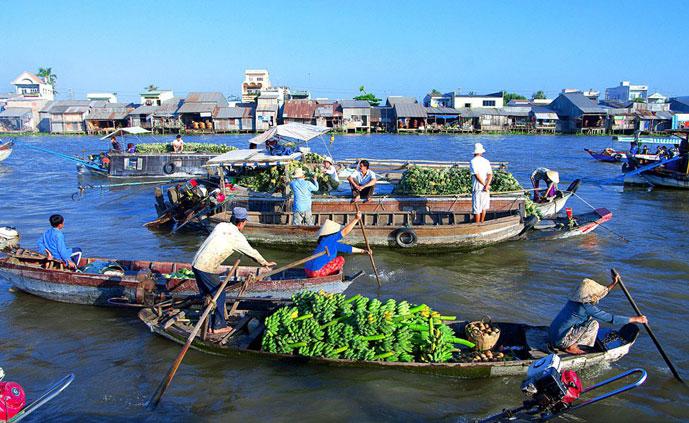 Marché flottant Cai Rang, Can Tho, Vietnam