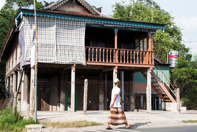 Village de Cham de Chau Giang, Chau Doc, Vietnam