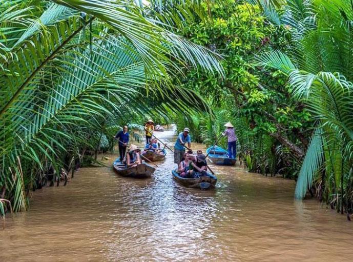 Sampan, Mekong, Vietnam