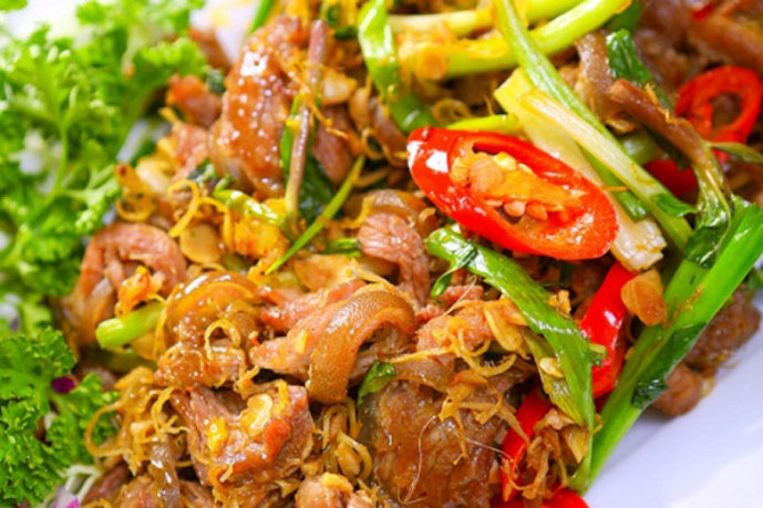 Viande de chevre, Ninh Binh, Vietnam