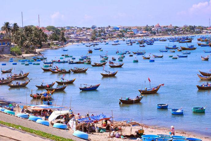 Village de pêcheur de Muine, Phan Thiet, Vietnam