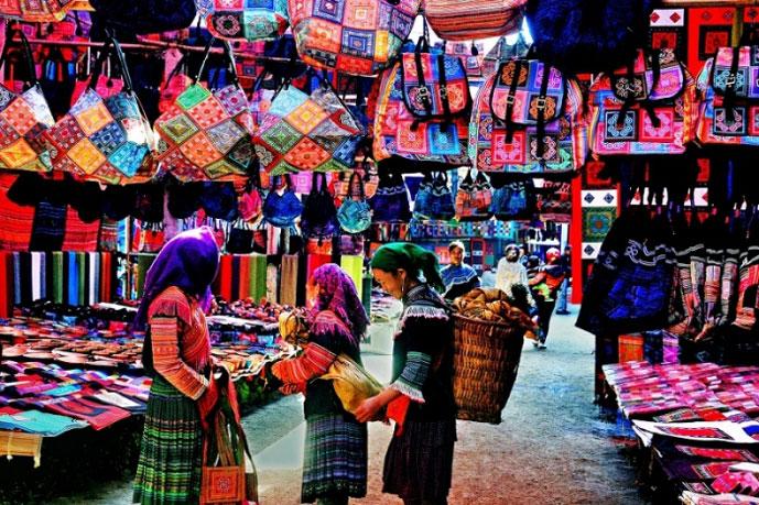 Marché de Bac Ha, Lao Cai, Vietnam