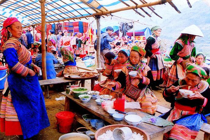 Marché Can Cau, Lao Cai, Vietnam