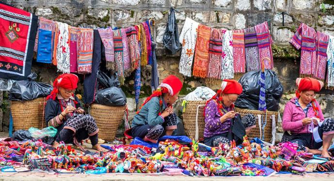 Marché Muong Khuong, Lao Cai, Vietnam