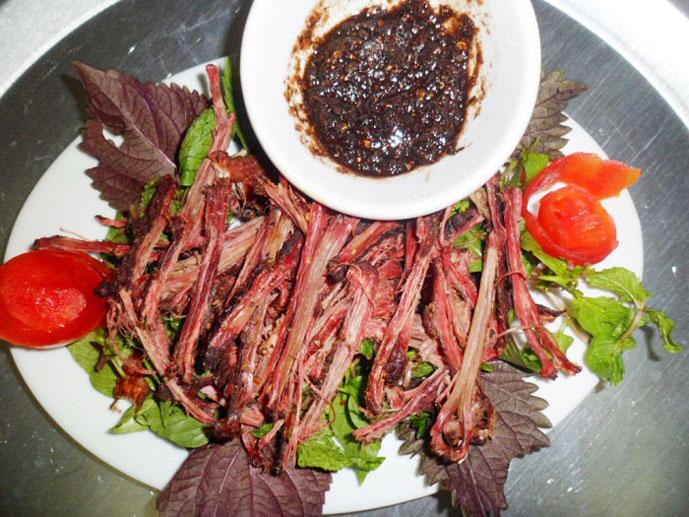 Viande séchée, Sapa, Vietnam