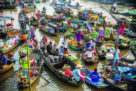 Cai Rang Floating Market - Mekong River